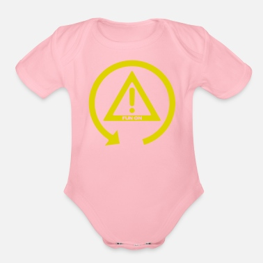 Fun FUN ON - Organic Short-Sleeved Baby Bodysuit
