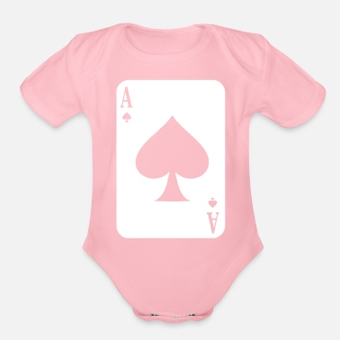 Long Ace Of Spades Poker - Organic Short-Sleeved Baby Bodysuit