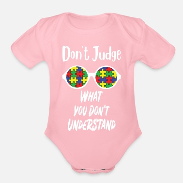 Lanyard Autism Awareness T Shirt Gift For Autistic Kids - Organic Short-Sleeved Baby Bodysuit