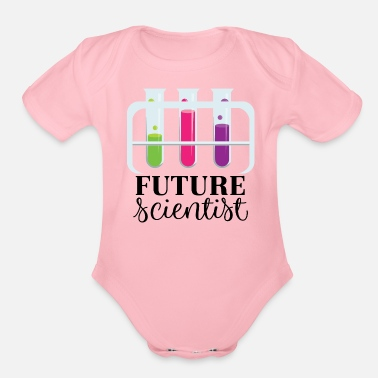 Future Future Scientist Chemistry - Organic Short-Sleeved Baby Bodysuit