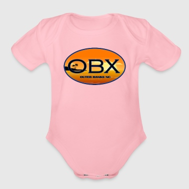 OBX Outer Banks North Carolina Beaches - Organic Short Sleeve Baby Bodysuit