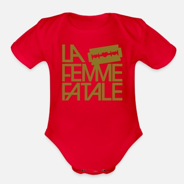 Fatal The femme fatale - Organic Short-Sleeved Baby Bodysuit