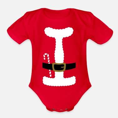 SANTA CLAUS SUIT - Baby One-Piece - Organic Short-Sleeved Baby Bodysuit