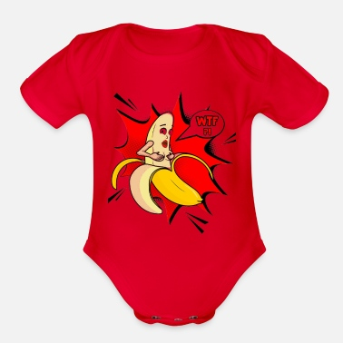 Striptease Banana Striptease - Organic Short Sleeve Baby Bodysuit