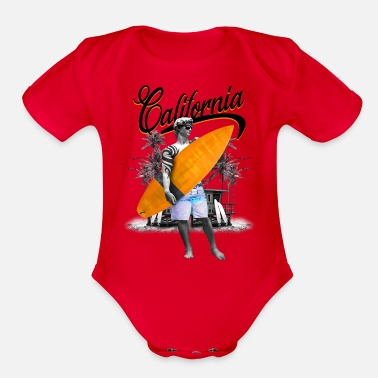 Michelangelo michelangelo going to a beach - Organic Short Sleeve Baby Bodysuit