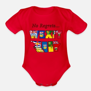 No Regrets Western Canada Separation - Organic Short-Sleeved Baby Bodysuit