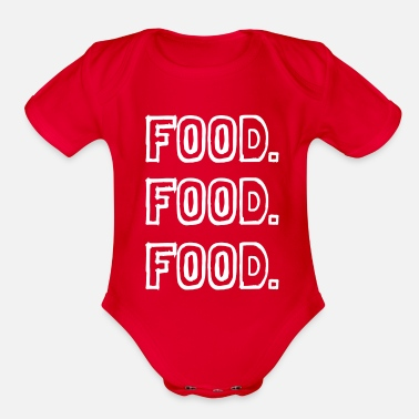 Food food food food - Organic Short-Sleeved Baby Bodysuit