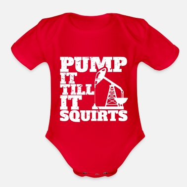 Oil Oil workers - oil field - oil production - Organic Short-Sleeved Baby Bodysuit