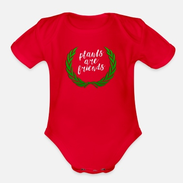 Spark Plants are Friends Laurel - Organic Short-Sleeved Baby Bodysuit