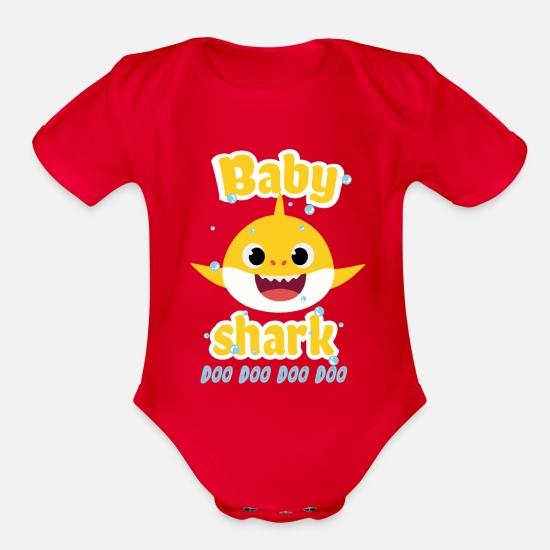 b41e6689d Organic Short-Sleeved Baby BodysuitBaby shark doo doo shirt toddlers outfit  girl