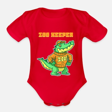 Zoo Animal Zoo, Animal, Pet - Organic Short Sleeve Baby Bodysuit