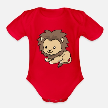 Lion Baby Lion - Organic Short-Sleeved Baby Bodysuit