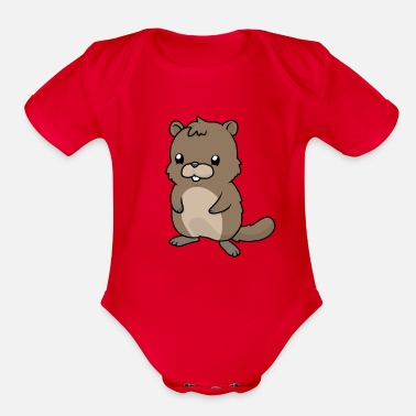 Carpathian Little Marmot - Organic Short-Sleeved Baby Bodysuit