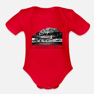 Highest Peak Zugspitze - Organic Short-Sleeved Baby Bodysuit