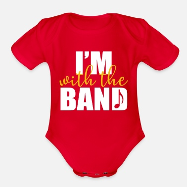 Band Band - I'm with the band - Organic Short-Sleeved Baby Bodysuit