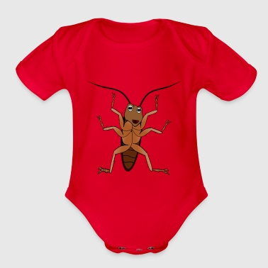 insect - Organic Short Sleeve Baby Bodysuit
