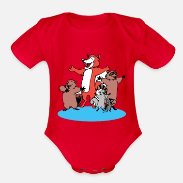 Rodent rodent - Organic Short Sleeve Baby Bodysuit
