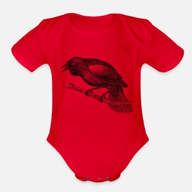 Blackbird Blackbird - Organic Short-Sleeved Baby Bodysuit