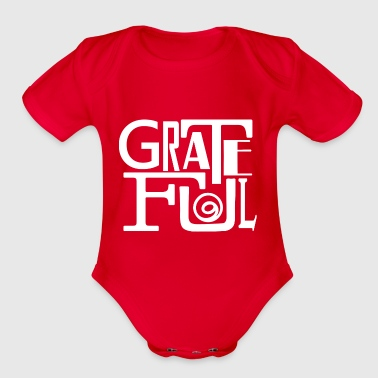 Grateful Dead Grateful - Organic Short Sleeve Baby Bodysuit