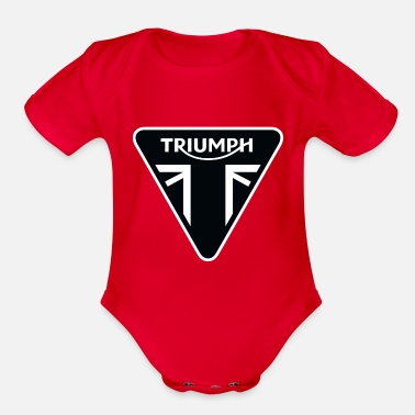 Motorcycle Triumph Motorcycles Logo - Organic Short-Sleeved Baby Bodysuit