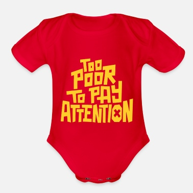 Pay To pay attention - Organic Short-Sleeved Baby Bodysuit