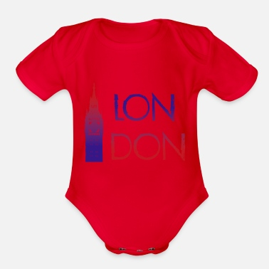 London London - Organic Short Sleeve Baby Bodysuit