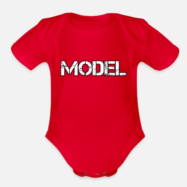 Model MODEL - Organic Short Sleeve Baby Bodysuit