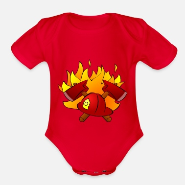 Volunteer Fire Department fire Department - Organic Short Sleeve Baby Bodysuit