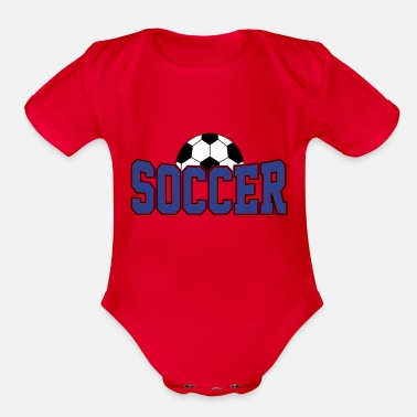 Soccer Ball Soccer Ball , Soccer Player, Soccer Ball - Organic Short-Sleeved Baby Bodysuit