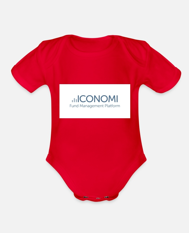 Occupy Wall Street Baby One Pieces - Iconomi - Organic Short-Sleeved Baby Bodysuit red