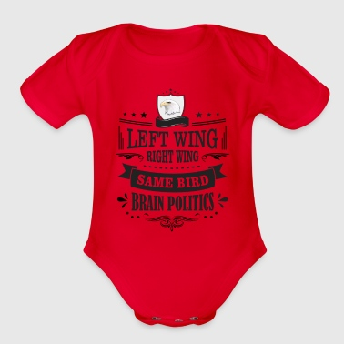 Wing Left Wing Right Wing Same Bird - Organic Short Sleeve Baby Bodysuit