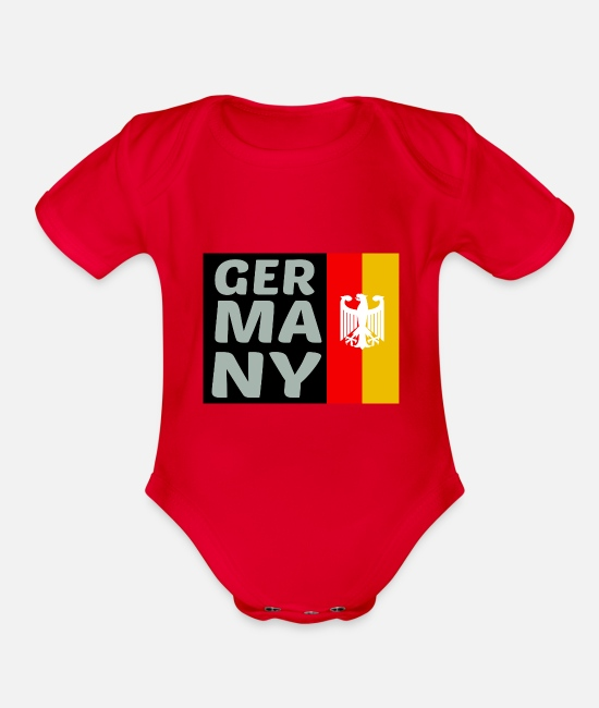 Proud Baby One Pieces - germany - Organic Short-Sleeved Baby Bodysuit red