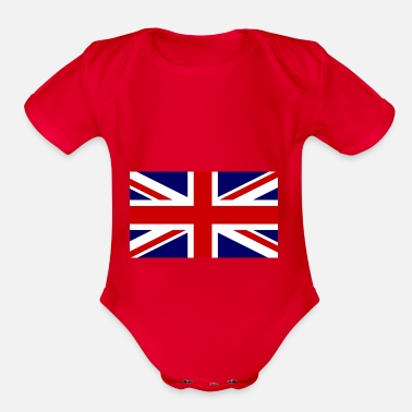 Union Jack union jack - Organic Short-Sleeved Baby Bodysuit