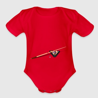 billiard - Organic Short Sleeve Baby Bodysuit