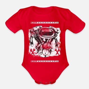 Motorcycling Motorcycle Motorcycle - Organic Short-Sleeved Baby Bodysuit
