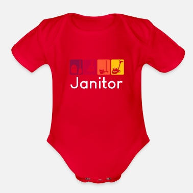 Janitor Janitor - Organic Short-Sleeved Baby Bodysuit