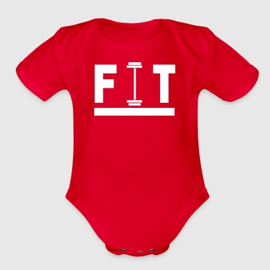 Fit - Organic Short Sleeve Baby Bodysuit