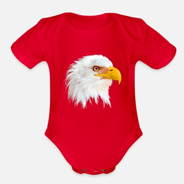 Eagle Head Eagle head - Organic Short Sleeve Baby Bodysuit