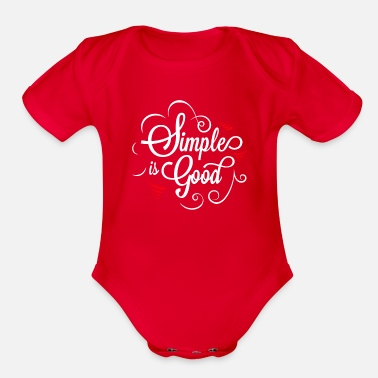 Initial Simple is Good - Organic Short-Sleeved Baby Bodysuit
