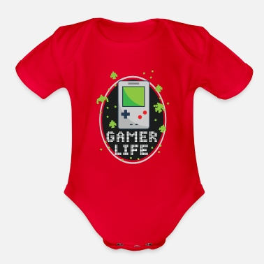 Gameboy GameBoy - Organic Short-Sleeved Baby Bodysuit