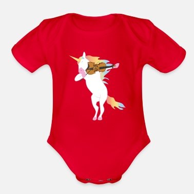 80b9863a Unicorn playing Violin T-Shirt Gift for Musicians Baby Lap Shoulder ...