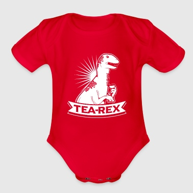 Tea Rex T-Shirt for Dinosaur Fans - Organic Short Sleeve Baby Bodysuit