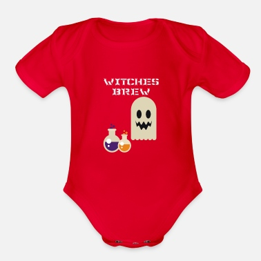 Witches Brew Halloween Witches Brew - Organic Short-Sleeved Baby Bodysuit
