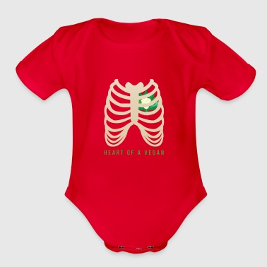 Fan Heart of a Vegan - Organic Short Sleeve Baby Bodysuit
