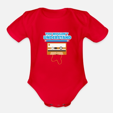 Tape Cassette - Organic Short-Sleeved Baby Bodysuit