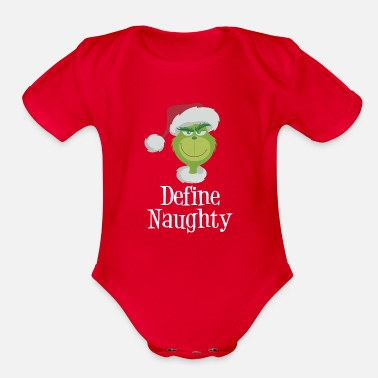 Grinch Dr Seuss The Grinch Naughty Grinch shirt - Organic Short-Sleeved Baby Bodysuit