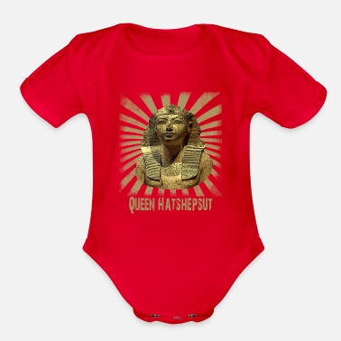 Hieroglyphics Ancient Queen Hatshepsut from Old Pharaonic Egypt - Organic Short-Sleeved Baby Bodysuit