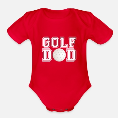 Daddy Mens Golf Dad T-Shirt Golf Gift For Father Golf - Organic Short-Sleeved Baby Bodysuit