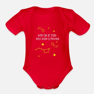 Occupy Huge Fan Of Space Both Outer & Personal T-Shirt Pl - Organic Short-Sleeved Baby Bodysuit