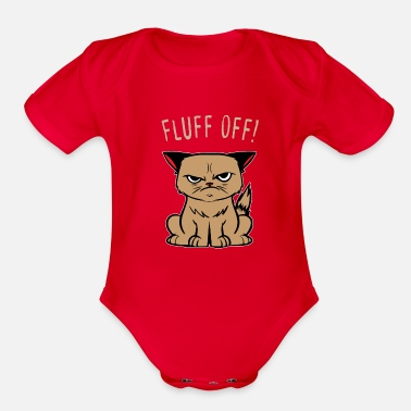 Shut The Fuck Up Sarcasm Cat Hasse human evil joke gifts - Organic Short-Sleeved Baby Bodysuit